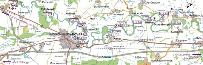 Térkép túraútvonal választásához